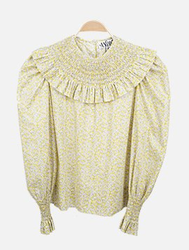 Clarice Liberty yellow flower Blouse